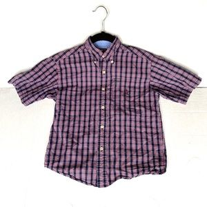 Boys small Tommy Hilfiger plaid button down